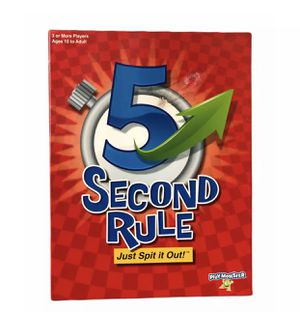 PlayMonster 5 Second Rule Board Game (7434) - Just Spit It Out for Sale in Aliquippa, PA