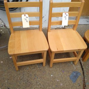 Kids oak Chairs.. $14 each for Sale in Douglasville, GA
