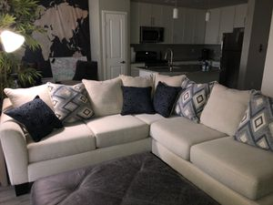 Sectional Couch and Ottoman for Sale in Fort Myers, FL