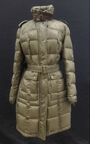 BURBERRY Brit Green Puffer Knee Length Trench Coat for Sale in Columbus, OH