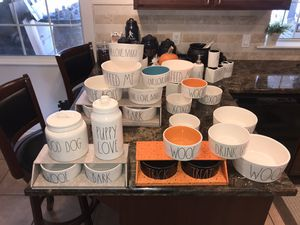 Rae Dunn Dog Bowls / canisters Galore..🤠 Slide pics .. Custom your set at value ..GOOD DOG / PUPPY LOVE Canister Set 🎯 for Sale in Sanger, CA