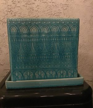 Pot, turquoise planters pot for Sale in Upland, CA