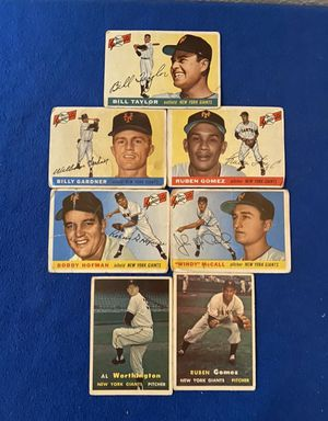 Vintage New York Giants Baseball Trading Cards (7) for Sale in San Antonio, TX