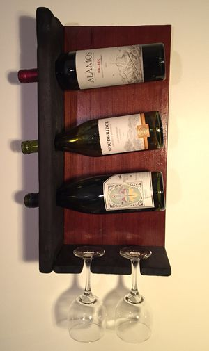 Wine and Wineglass rack - Reclaim Wallmount for Sale in Traverse City, MI