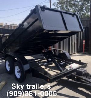 8 X 12 X 2 DUMP TRAILER FACTORY DIRECT! SKY TRAILERS for Sale in Buena Park, CA