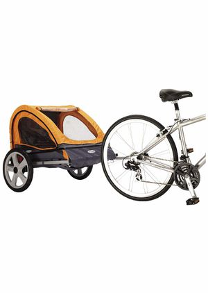 Instep Quick-N-EZ Double Seat Foldable Tow Behind Bike Trailers, Converts to Stroller/Jogger, Featuring 2-in-1 Canopy and 16-Inch Wheels, for Kids an for Sale in Anaheim, CA