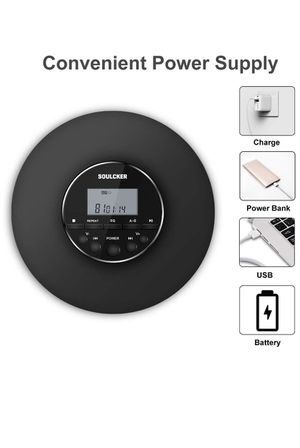 Portable CD Player, Soulcker Personal Compact Disc CD Player with Headphones Jack, Anti-Skip/Shockproof Protection Small Music CD Walkman Players wit for Sale in Glendora, CA