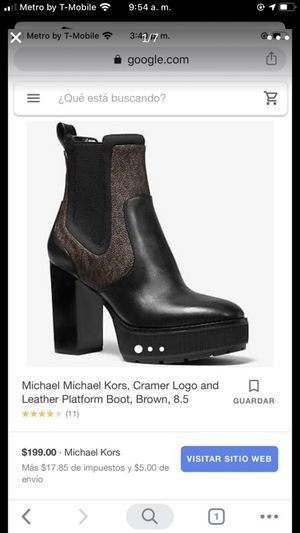 Women Michael Kors leather boots Size 7 womens for Sale in Corona, CA