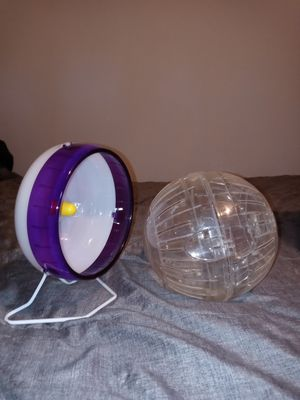 Hamster/mouse Running wheel and ball for Sale in York, PA