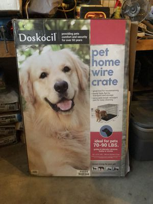 Large doskocil dog crate only used once perfect condition , still in original box . Houses a 70-99 lb dog for Sale in Durham, NC