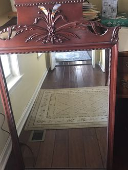 """Cherry Wood Antique Mirror 24 1/2"""" x 42 1/2"""" for Sale in Purcellville,  VA"""