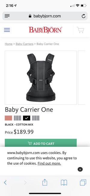 de2c9219ef5 BABYBJORN Baby Carrier One for Sale in Porter Ranch