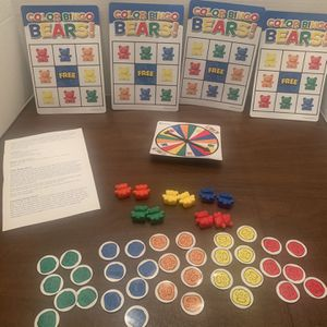 Learning Resources Color And Counting Bingo Bears Kids Girls Boys Educational School Toy for Sale in San Diego, CA