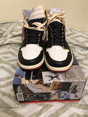 Nike Air Jordan 1 Union Black Toe 9.5 Brand New for Sale in Los Angeles, CA