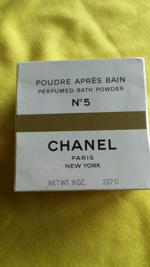 Vintage Chanel Number 5 perfumed bath powder for Sale in Seattle, WA
