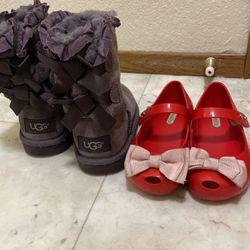 Girls ugg boots +mini melissa for Sale in Lakewood,  WA
