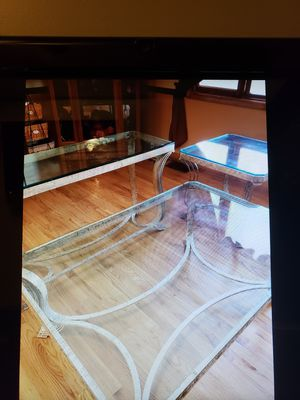 Wrought Iron & Glass Tables (3) for Sale in Bolivar, WV