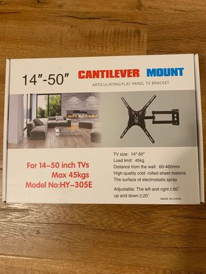 """New Still In The Box 14""""-50""""TV WALL MOUNT BRACKETS (holds up to 99Ibs)pick up Baldwin Park or downtown store for Sale in Baldwin Park, CA"""