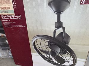 """Home decorator Bentley ll 18"""" indoor / outdoor bronze oscillating celling fan with wall control new in the box for Sale in Las Vegas, NV"""