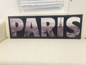 "PARIS beautiful framed Canvas Art 47""x15"" for Sale in Kensington, MD"