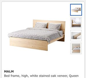 Queen bedroom set Ikea Malm - bedframe, 2 billy book shelves & chest of drawers for Sale in Seattle, WA