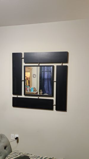 Black wood mirror for Sale in Cleveland, OH