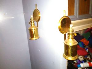 Brass oil lamps for Sale in Pontotoc, OK
