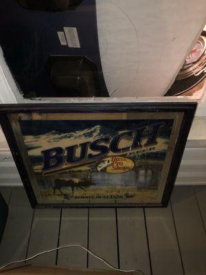 Busch Beer (elk) mirror for Sale in Hiram, GA