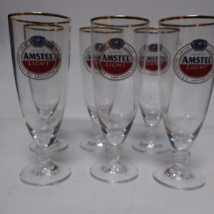 Set Of 6 Amstel Light Glasses for Sale in Wilkes-Barre Township, PA