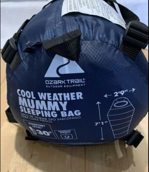 Cool weather mummy sleeping bag- only used once! for Sale in Durham, NC