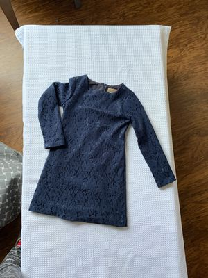 Girl elegant navy blue dress size: 8 for Sale in Rancho Cucamonga, CA