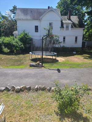 trampoline & basketball hoop for sale use for Sale in Lowell, MA