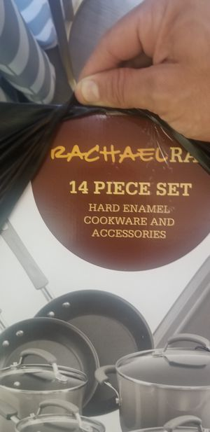 14 piece cook set rachel ray pots pans set for Sale in Glendale, CA