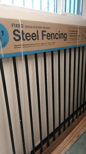 Welded steel fence panel just one left. for Sale in Huntington Park, CA