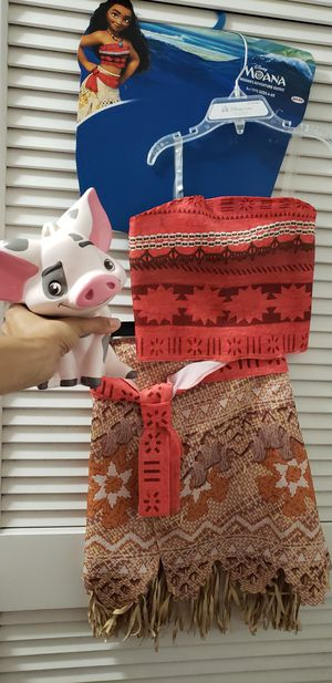Moana costume and pua ceramic piggy bank for Sale in Tampa, FL