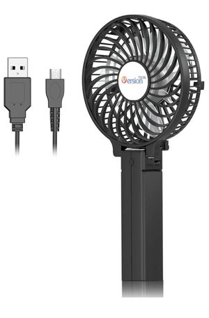 Mini Portable Fan, USB Battery Operated Desk Fan, Small Personal Handheld Table Fan with USB Rechargeable Cooling Folding Electric Fan for Travel Off for Sale in Orange, CA