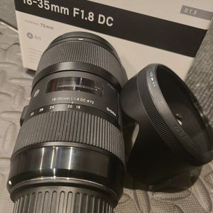Sigma 18-35mm f/1.8 DC HSM Art Lens For Canon DSLR for Sale in Westminster, CA