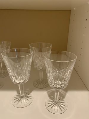 Waterford crystal large wine/water stems for Sale in Olalla, WA