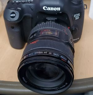 Canon 5d mark iii with lens 24-105 for Sale in Glendale, CA