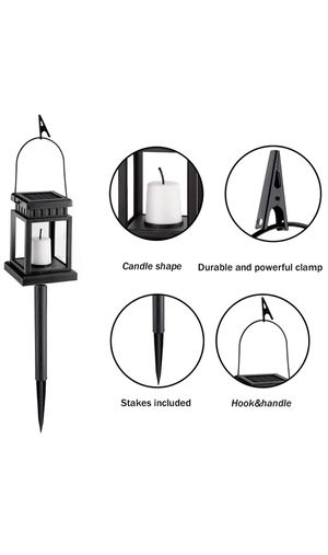 GIGALUMI 8 Pack Solar Hanging Lantern Outdoor, Candle Effect Light with Stake for Garden,Patio , Lawn, Deck , Umbrella, Tent, Tree,Yard,Driveway-Warm for Sale in Las Vegas, NV