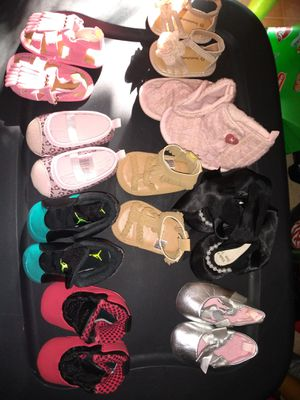 3-6 Months Baby Girl Shoes (9pairs) for Sale in Waterbury, CT
