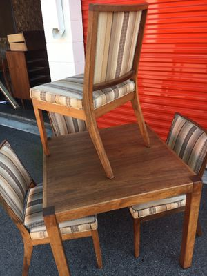 Walnut mid century modern dining set for Sale in Santa Ana, CA