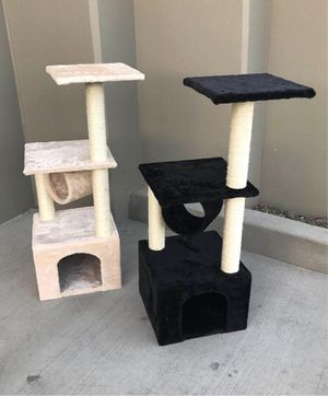 New in box 36 inches tall cat tree tower house scratcher scratching play post pet furniture beige or black color $20 each for Sale in Norwalk, CA
