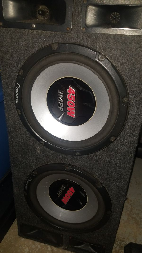 Speakers pioneer and 2000w receiver