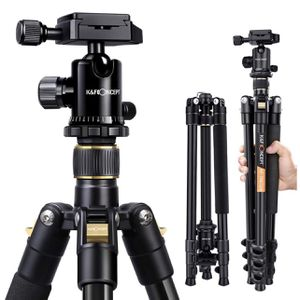 K&F Concept 62'' DSLR Tripod, Lightweight and Compact Aluminum Camera Tripod with 360 Panorama Ball Head Quick Release Plate for Travel and Work (TM23 for Sale in Los Angeles, CA