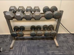 Dumbbells with stand 450lbs total for Sale in IND HEAD PARK, IL