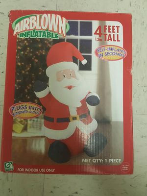 Santa inflatable 4 feet tall for Sale in Silver Spring, MD