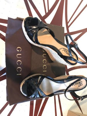 Gucci black patent wedges for Sale in Scottsdale, AZ
