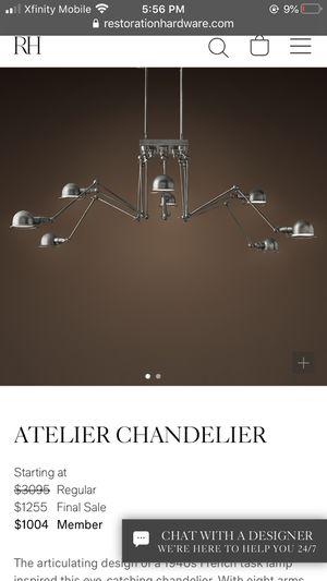 Restoration Hardware Antelier Chandelier for Sale in Danville, CA