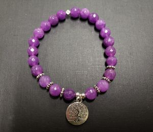 **NATURAL STONE - Purple Jade Bracelet (protection, calm emotions, healing, wisdom) for Sale in Rancho Cucamonga, CA
